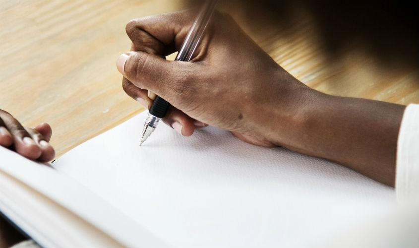 Escrevi e apaguei